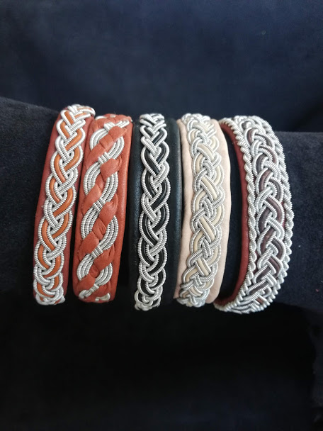 Unbyn Sami Bracelet from Sweden is an elegant bracelet offers a stylish look for any occasion, This luxuriously handcrafted jewelry is called Sami craft and it is a time-honored Swedish tradition