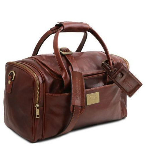 TL Voyager - Travel leather bag with side pockets - Small size-TL141441 3