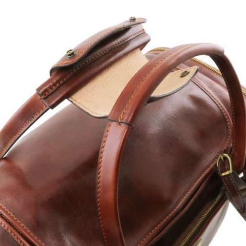 TL Voyager - Travel leather bag with side pockets - Small size-TL141441 5