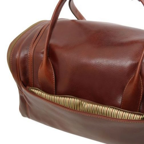 TL Voyager - Travel leather bag with side pockets - Small size-TL141441 7