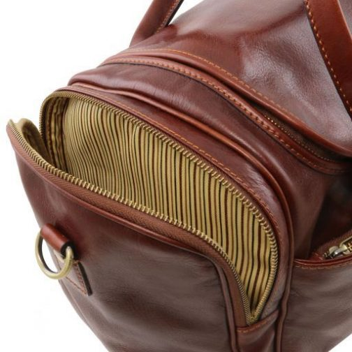 TL Voyager - Travel leather bag with side pockets - Small size-TL141441 8